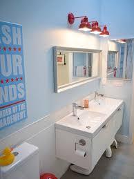 lighting ideas for bathrooms. contemporary kidsu0027 white tile and subway bathroom idea in calgary with an integrated sink lighting ideas for bathrooms