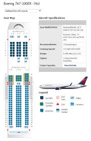Delta Airlines Aircraft Seating Chart All Inclusive Delta Airlines Boeing 767 300 Seating Chart