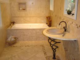 bathroom remodel tile floor. Minimalist Small Bathroom Remodel Design Ideas Budget : Impressive Cream Travertine Tile Flooring And Wall In Floor I