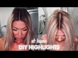 diy highlight hair with foil bleach