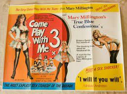 Herstellergarantie Come Play With Me 3 UK Quad Triple Bill Movie Poster Mary  Millington Artwork sex heißer Verkaufsladen -firstaudio.live