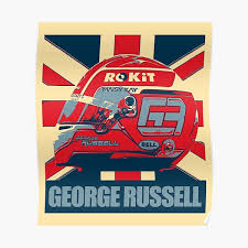 George russell black and white poster. George Russell Posters Redbubble