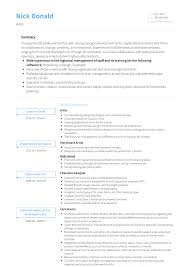 Resume Samles Artist Resume Samples And Templates Visualcv