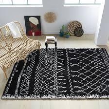 Afaw berber-style rug, 3 sizes , black + white, <b>La Redoute</b> Interieurs ...