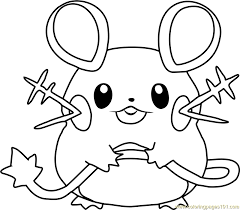 Small Picture Dedenne Pokemon Coloring Page Free Pokmon Coloring Pages