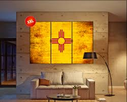 new mexico home decor: new mexico state flag canvas art print large wall art canvas print flag of the state