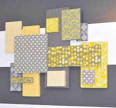 grey and yellow wall decor superb wall art yellow and gray