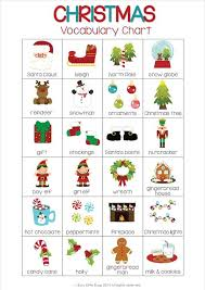 vocab cards with pictures christmas flash cards classroom christmas vocabulary english