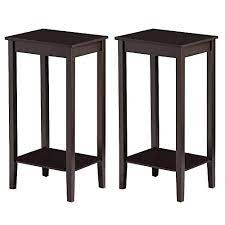 yaheetech tall end table with