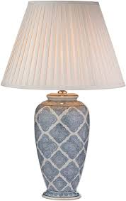 blue and white lamps. Dar Ely Traditional Blue And Cream Table Lamp Base White Lamps