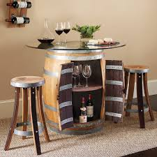 Wine Barrel Kitchen Table Wine Barrel Pub Table 2 Stave Pub Stools Set Lets Wine A Little