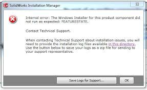 what is windows installer solidworks installation error featurestate grabcad questions