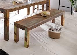 Esszimmerbank Delhi 120 X 45 X 38 Cm Mango Shabby Chic Massiv Holz Design Landhaus Sitzbank Bootsholz Holzbank Für Esszimmer Küchenbank 2 3