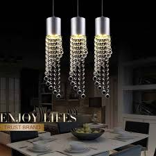 5w led lamp modern crystal pendant light kitchen dining room silver metal 3 heads home