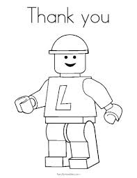 Coloring Pages To Print Easy Children Thank You Cards Holiday