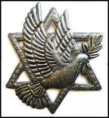 jewish star of david metal wall decor haitian metal art