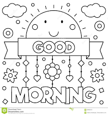 Free Good Morning Coloring Pages Printable L