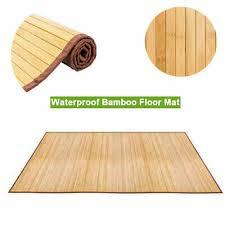 5 x8 non sliding waterproof floor mat natural bamboo area rug indoor carpet