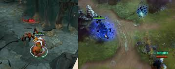 visual feedback for disjoint similar to miss evasion dota2