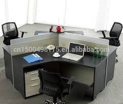 office desk workstation. wooden 120 degree office desk workstation for 3 person t