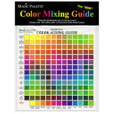 Artist Colour Mixing Chart Magic Palette Mini Essential Color Mixing Guide
