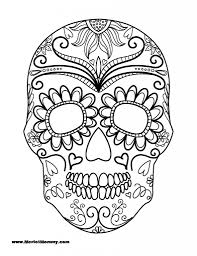 Sugar Skull Coloring Page Halloween