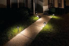 warm white led landscape lights led landscape path lights dual tier 4 watt warm white lights