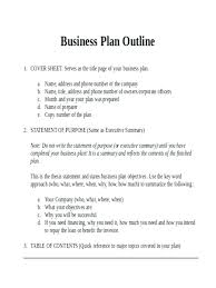 016 Business Plan Outline Template Ideas Example Of Examples