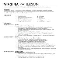 Resumes Samples For Jobs Fast Food Cashier Resume Sample Job And