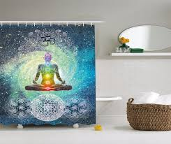 indian decor mandala yoga zen wall tation shower curtain extra long 84 inch