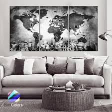 >products tagged wonders of the world boxcolors large 30 x 60 3 panels art canvas print original wonders of the world