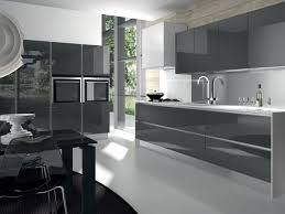 modern glossy grey kitchen cabinets and white countertop office blue gray units designs design trends colors