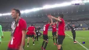 احتفال منتخب مصر بالتأهل لربع نهائي أولمبياد طوكيو