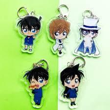 Mica trong acrylic) Móc khóa Conan Thám tử lừng danh Kid ver eat in hình anime  chibi
