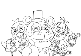 Five Nights At Freddys Coloring Pages Getcoloringpagescom