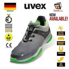 Uvex Safety Shoes Size Chart Uvex 8473 Uvex 3 Sportsline Safety Trainer Grey Green Size 39 44 Durasafe Shop
