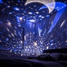 Night Stars Bedroom Lamp Amazoncom Lizber Baby Night Light Moon Star Projector 360 Degree
