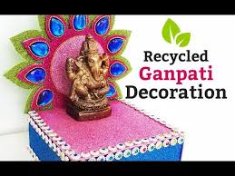 easy homemade ganpati decoration best out of waste ganpati makhar