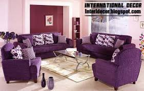 living room decoration with purple furniture purple sofas and chairs