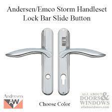 discontinued andersen emco storm door handleset with lock bar slide on choose color