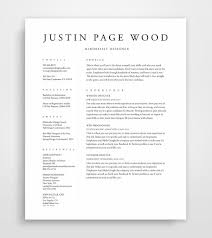 Etsy Resume Template Simple Resume Template Resume Professional Resume Template CV Etsy