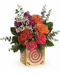 quick view teleflora s birthday sparkle bouquet bouquet