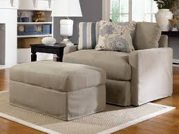 comfortable and nice oversized chair with ottoman in