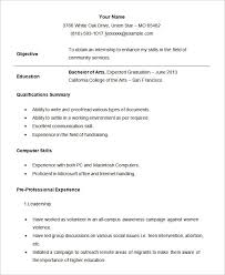 Resumes Examples For Students Cool Resume Examples For Students Correiodigital