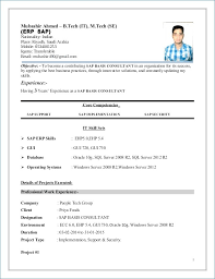 Sap Abap 3 Years Experience Resume Sample Resume For Freshers Sap
