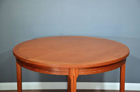 mid century danish teak round table