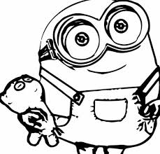 Small Picture Happy Birthday Minion Coloring Page Free Coloring Pages Online