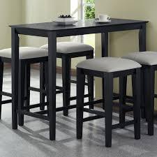 Monarch Specialties Black Oak Rectangular Counter Height Dining