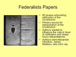 federalist vs federalists papers