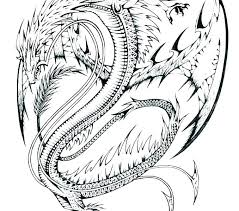Dragon Coloring Pages Realistic Free Printable Gon Coloring Pages